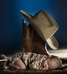 "Sleepy Cowboy: ""Watch Me Grow"" (Baby Photography, Greenville SC) - Getz Creative Wedding Portrait Photography - Greenville, SC"