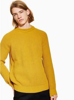 ca8122bf3 Mens Yellow Mustard Roll Neck Jumper