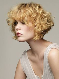 Curly Medium Blonde Hairstyle - Homecoming Hairstyles 2014