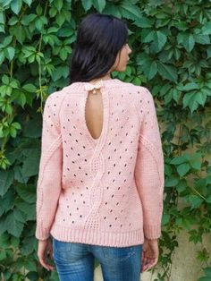 Items similar to Pink sweater Warm winter sweater Autumn sweater Woman sweater for woman sweater Sweater with long sleeve Sweater for woman Spring sweater on Etsy Girls Sweaters, Winter Sweaters, Sweaters For Women, Retro Stil, Knitwear Fashion, Pink Sweater, Sweater Cardigan, Knitting Designs, Crochet Clothes