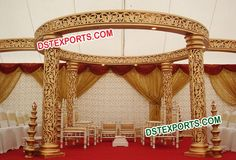 #WEDDING #GOLD #JALI #MANDAP #DSTEXPORTS