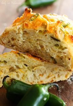 No-Knead Jalapeño Cheddar Artisan Bread - This bread is FOOL PROOF! It has a crunchy crisp crust with a soft center and has a delicious kick to it!