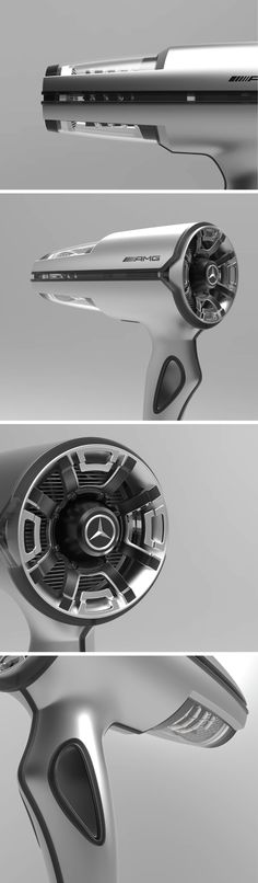 Go ahead and feel captivated by this automobile/hair-appliance blend… only to realize later on that Yu Seo-joung's Mercedes AMG inspired hair dryer is completely devoid of color. Only through black and white renderings, this hair-dryer manages to capture one's attention, showing that design detail can still be just as captivating, even in grayscale.