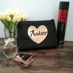 Personalised makeup bag; wedding bags; personalised bridesmaid gift; bridal bag; cosmetic bag; personalised totes by Bridal Bling Australia www.bridalbling.com.au