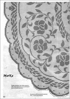 Мода и модель - вязание крючком. Салфетки, скатерти и многое другое Crochet Patterns Filet, Crochet Tablecloth Pattern, Crochet Diagram, Filet Crochet, Crochet Doilies, Crochet Lace, Crochet Stitches, Cross Stitch Patterns, Crochet Magazine