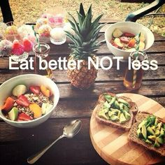 "Exactly! The goal isn't to see how little you can eat. Fill your body with healthy whole foods & you don't have to eat ""less"" ;)"
