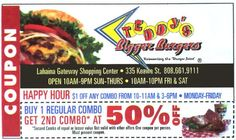 Teddy's Bigger Burgers. Buy one regular combo, get second combo at 50% off!