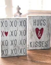 Specialty Projects - AR Workshop - hugs and kisses valentines wood block - Valentines Day History, Valentine Day Love, Valentine Day Crafts, Wood Block Crafts, Wood Blocks, Wood Crafts, Jar Crafts, Wood Projects, Valentine's Day Quotes