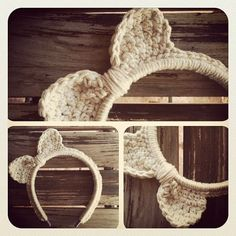 Crochet Cabeça - Inspiração para as orelhas Gatinho -  /   Crochet Headband - Inspiration for Kitten ears