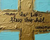 May The Lord Bless This Child Painting by Laura W Taylor