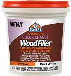 Elmer's Carpenter's Color Change Wood Filler, 16 oz., White (E917)