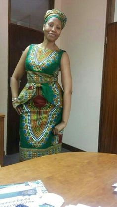 Dashiki wonder by khoboso matsoakeletse. Ankara Fashion, African Print Fashion, African Prints, Fashion Prints, Women's Fashion, Fashion Design, African Prom Dresses, African Fashion Dresses, African Dress