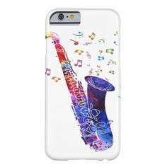 Watercolor Rainbow Saxophone | Barely There Case for iPhone 6/6S Plus, iPhone 6/6S, iPhone 5/5S, iPhone 5C, iPhone 4,iPhone 3G/3GS