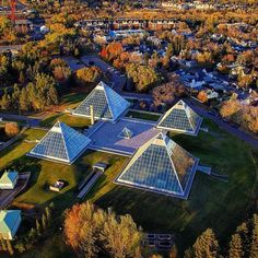 Beautiful view of the Muttart conservatory! The Good Old Days, The Good Place, Jackson Heights, Canada Eh, Our Town, Alberta Canada, Conservatory, Places To See, Vacation