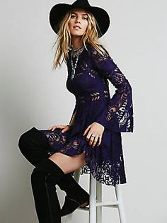 *** JUST ADDED *** To our senior style closet..Free People Lovers Folk Song Dress, $128.00
