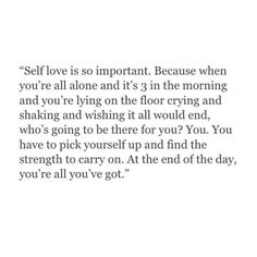 Self love is so important!!!