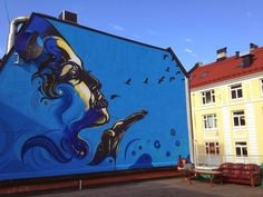Street art in Oslo Norway by C215