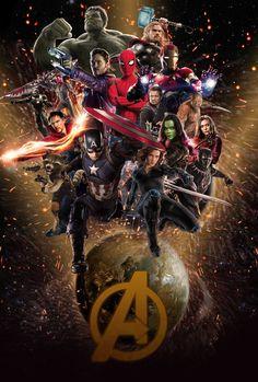 Marvel s avengers infinity war fan made poster by. Marvel Avengers, Marvel Comics, Avengers Poster, Marvel Fan, Marvel Memes, Poster Marvel, Marvel Infinity, Avengers Infinity War, Marvel Tattoos