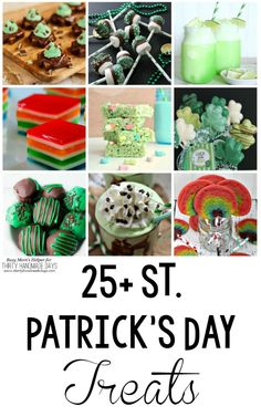 Delicious and fun recipes in green, rainbow and more! Check out these 25+ St. Patrick's Day Treats for your leprechaun celebration!
