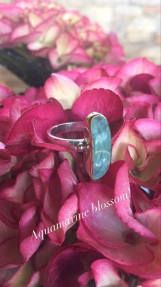 One of a kind silver and gold aquamarine ring. Gold And Silver Rings, Aquamarine Rings, 18k Gold, Heart Ring, Wedding Rings, Engagement Rings, Gemstones, Handmade, Jewelry