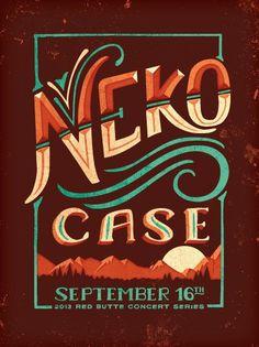Neko Case gig poster