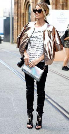 metallic jacket for fall