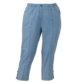 a5945155cff4b Cathy Daniels Ankle Jeans Pull-On stretch solid slims Women s size 1X NEW  19.99 http