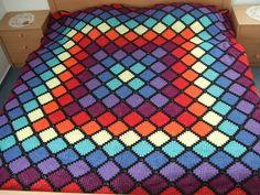 Room No# 18, afgahn, crochet blanket, häkeln, bedspread, Tagesdecke
