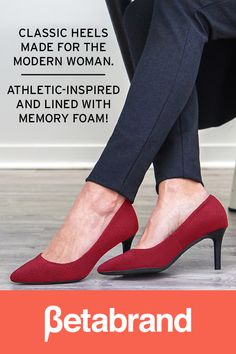 Classic heels made for the modern woman. Athletic-inspired & lined with memory foam!