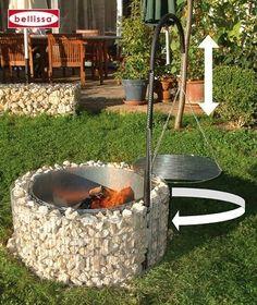 Der Gabionen Grill im Bausatz, Feuer- und Grillstelle in Einem Description of the fire and grill are Fire Pit Art, Fire Pit Decor, Easy Fire Pit, Small Fire Pit, Fire Pit Bowl, Modern Fire Pit, Fire Pit Landscaping, Fire Pit Backyard, Rectangular Fire Pit