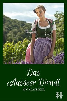 Das Ausseer Dirndl ist ein Stück Kultur! Es ist eines der bekanntesten Dirndln und wird im Ausseer Land als Alltagsgewand getragen. Folk Costume, Costumes, Austria, Oktoberfest Party, Beer Girl, German Women, Medieval Dress, Fancy Pants, Kind Mode