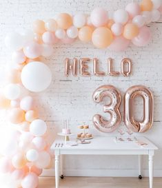on ringing in your birthday calls for a unique and beautiful moment! our balloon arch and letters can dress up any space and make a statement birthday diy table party ideas ideas for 2019 diy party birthday 30th Birthday Party Themes, 30th Birthday Ideas For Women, 30th Birthday Decorations, Adult Party Themes, 30th Party, 30th Birthday Balloons, 30th Balloons, Parties Decorations, Birthday Backdrop