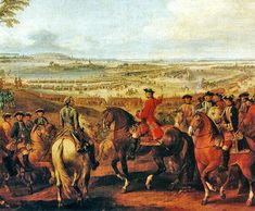 Marshall Maurice de Saxe ordering his troops, Battle of Lauffeld