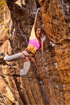 Rock climbing chicks = good abs