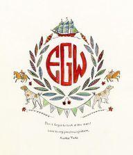 Inspired Monogram: Rachel Rog