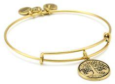 "Alex and Ani Bangle Bar ""Tree of Life"" Russian-Gold Expandable Bracelet: Jewelry: Amazon.com"
