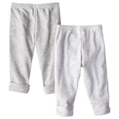 Just One You™ by Carter's® Newborn Girls' 2-Pack Pant - Grey  Size: NB, 3M