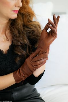 KIDSKIN LEATHER GLOVES by Imodivintage on Etsy