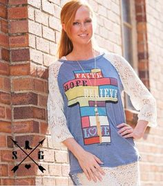 3254b4e7c Colorblock Cross Lace Sleeve Top Lace Sleeves