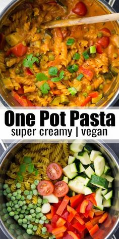 This vegan one pot pasta is one of my favorite vegan dinner recipes! It's super . - This vegan one pot pasta is one of my favorite vegan dinner recipes! It's super . Easy Vegan Dinner, Vegan Dinner Recipes, Vegan Dinners, Cooking Recipes, Healthy Recipes, Super Easy Dinner, Vegan Recipes Thermomix, Easy Vegetarian Pasta Recipes, Vegan Recipes Asian