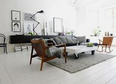 Home interior decoration ideas including modern, Scandinavian, Victorian, high-end design & even more. View our most current design pointers as well as home improvement insights. Black And White Interior, White Interior Design, Home Interior, Interior Decorating, Black White, White Wood, White Walls, Decorating Ideas, Apartment Interior