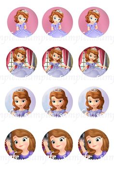 Princess Sofia, Sofia the First Bottle Cap Images- DIGITAL-Tags-Cupcake Toppers-Scrapbooking and More.