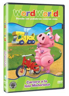 Diseño publicitario de DVD's - Stop Diseño Gráfico - Diseño de Carrera a la isla misteriosa- Word World.