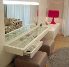 attached wall vanity
