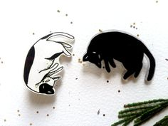 Enjoy this pin of a floating kitty or his slightly more ominous floating shadow. Cant control your inner cat lady and want both options? Select the Cat