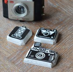 Camera Handmade Rubber Stamp - La Fabutineuse