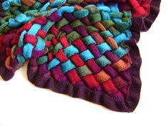 When working a large entrelac project, consider knitting backwards to avoid turning your work!  Here is a helpful link  http://verypink.com/2012/09/26/ backwards-or-mirror-knitting/  . Knit an Entrelac Blanket $5.00