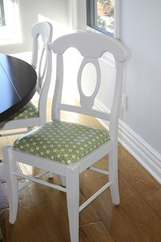 cover your dining seats in oilcloth!
