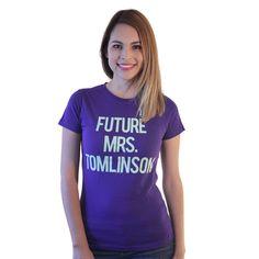 One Direction Future Mrs. Tomlinson Women's Purple T-shirt