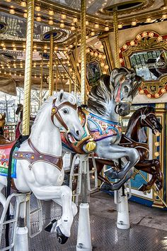 Carousel in the park at the foot of the Ben Franklin Bridge, photo by Sonny Hamauchi